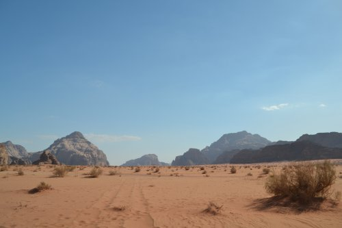 Totaalbeeld Wadi Rum