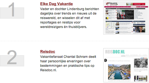Reisdoc.nl 2e plek Travvies Awards