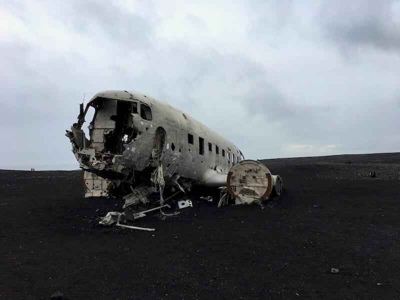 Verlaten vliegtuig IJsland