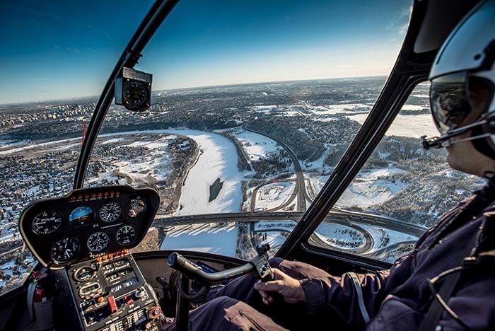 Edmonton in de winter