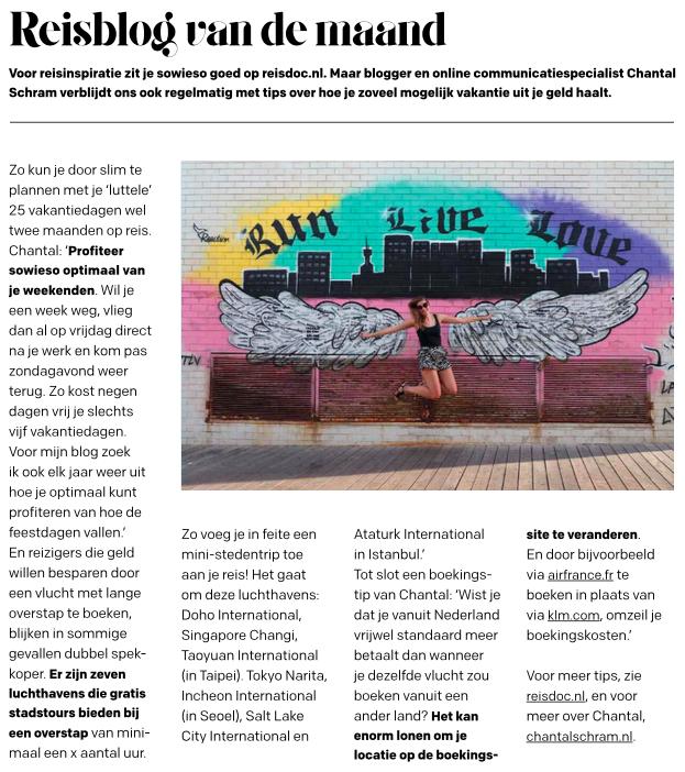 Reisdoc.nl in Reiz& Magazine