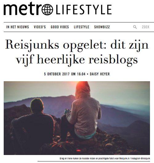 Reisdoc.nl op Metronieuws.nl
