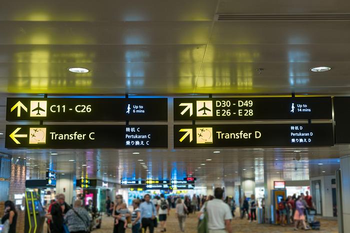 Overstappen vliegveld
