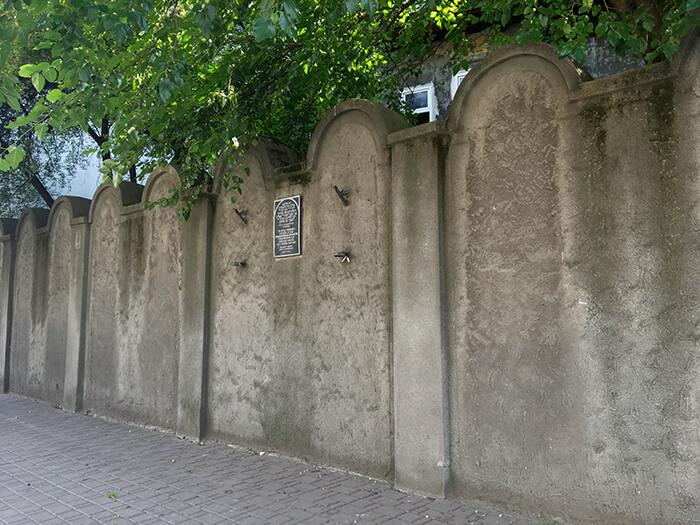 Bezienswaardigheden Krakau: Getto muur