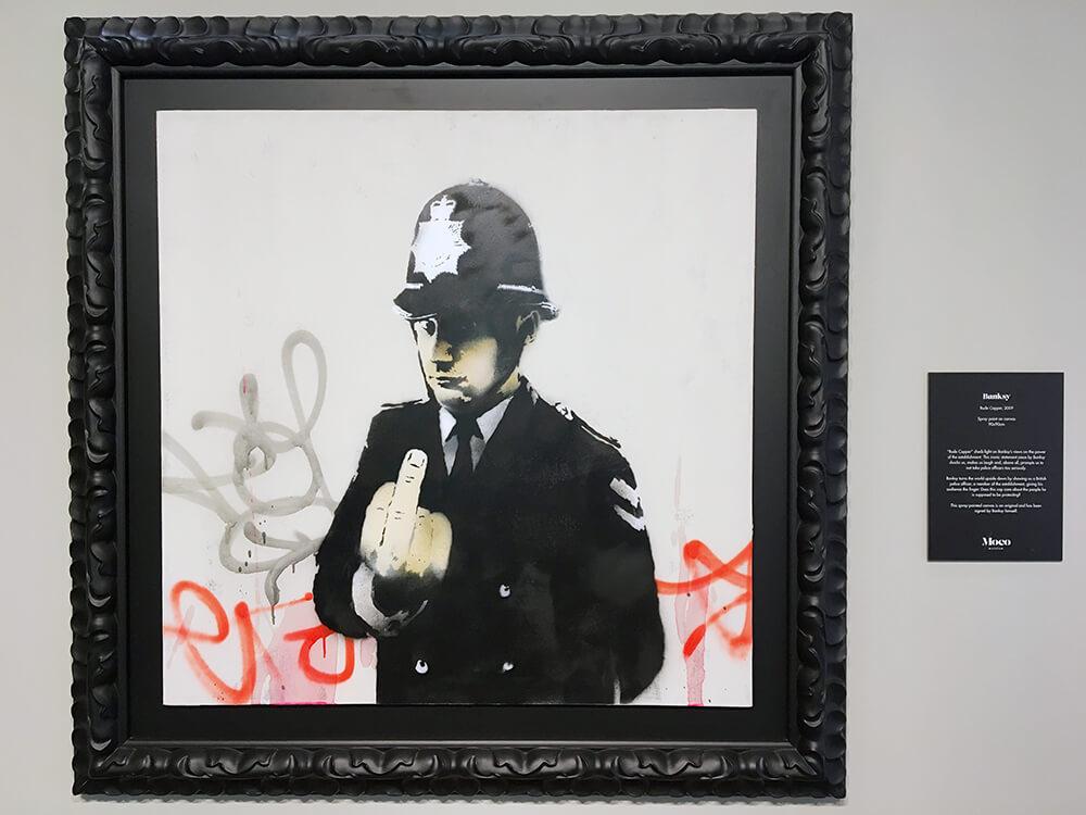 Banksy kunst: Moco Museum Amsterdam