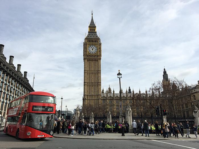 Eerste keer Londen